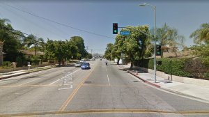 Lindley Avenue, just north of Chase Street, in Northridge, as pictured in an Google Street View image in June of 2017.