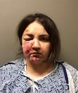 Tierra Ortega is seen in a booking photo released by Upland police on Feb. 26, 2019.