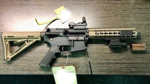 A AR-type semi-automatic rifle, pictured in an undated photo released by the U.S. Bureau of Alcohol Tobacco, Firearms and Explosives.