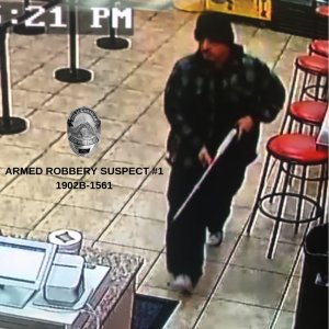 A shotgun-wielding man held up a Beaumont business on Feb. 17, 2019. (Credit: Beaumont Police Department)