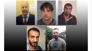 Pictured are five of Bruce McArthur's eight victims (clockwise from top left): Majeed Kayhan, 58; Dean Lisowick, 47; Soroush Marmudi, 50; Selim Esen, 44 and Andrew Kinsman, 49. (Credit: Toronto Police Service via CNN)