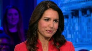Rep. Tulsi Gabbard in the early 2000s touted working for her father's anti-gay organization, which mobilized to pass a measure against same-sex marriage in Hawaii and promoted controversial conversion therapy. (Credit: CNN)
