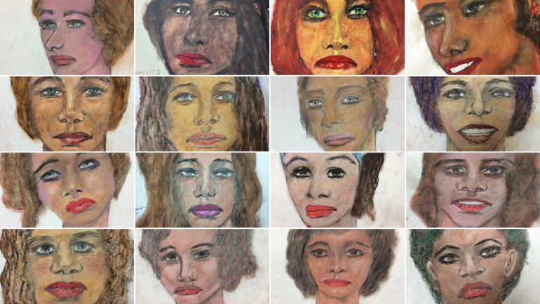 The FBI released 16 images on Tuesday, drawn from memory by Samuel Little, who told authorities they are just some of the more than 90 people he killed over three decades. (Credit: CNN)