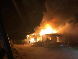 A man was found dead inside a burning hom in Twentynine Palms on Feb. 21, 2019. (Credit: San Bernardino Fire Department)