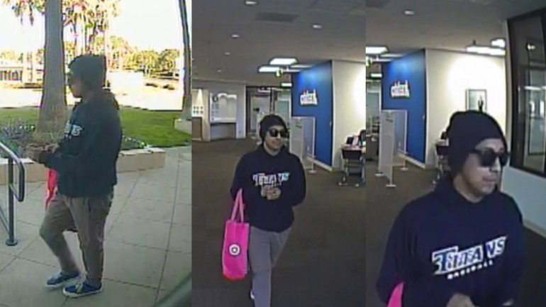 Newport Beach Police are attempting to identify a suspect in a bank robbery on Friday.