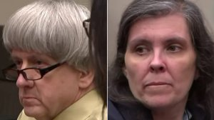 David Turpin and Louise Turpin are seen appearing in court and entering guilty pleas on Feb. 22, 2019. (Credit: KTLA)