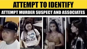 The Los Angeles Sheriff's Department released these images of four people linked to a shooting in Rosemead on Sept. 21, 2018.