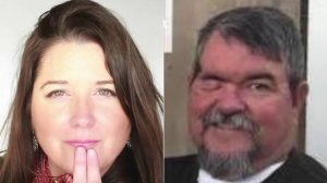 Stacie Norene Leber, left, and Donald Paul Elliott are seen in undated photos provided to KTLA.