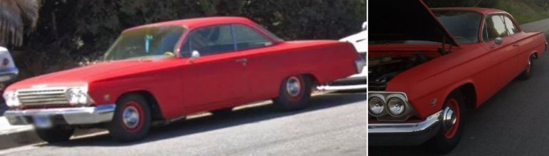 A valuable and sentimental 1962 Chevrolet Bel Air 409 that was stolen out of Walnut in January is seen in an image released March 27, 2019, by the Los Angeles County Sheriff's Department.