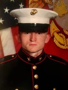Lance Cpl. Riley Schultz is seen in his U.S. Marine Corps. portrait obtained by KDVR.