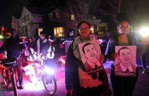 Black Lives Matter protesters march through the streets of Sacrament on March 4, 2019, as they demonstrate the decision by Sacramento County district attorney to not charge the Sacramento police officers who shot and killed Stephon Clark last year. (Credit: Justin Sullivan / Getty Images)