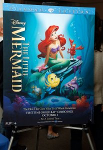 A poster is shown during Disney's The Little Mermaid special screening at Walter Reade Theater in New York City on Sept. 21, 2013. in New York City.  (Photo by Cindy Ord/Getty Images for Walt Disney Studios Motion Pictures)