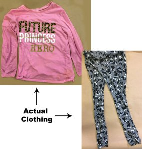 Photos of clothing worn by a young girl found dead along an equestrian trail in Hacienda Heights were released by the Los Angeles County Sheriff's Department on March 6, 2019.