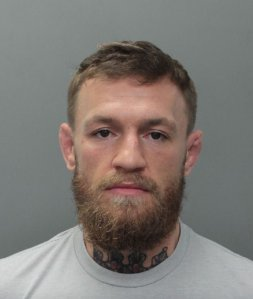 Conor McGregor is seen in a booking photo released by the Miami Beach Police Department on March 11, 2019.