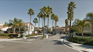 The Moreno Valley Ranch gated community in Moreno Valley, as pictured in a Google Street View image in February of 2012.