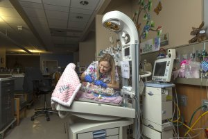 Undated photo of Tammy Lewis at work at the NICU at Scott and White Hospital in Texas. (Credit: CNN)