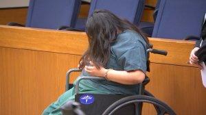 Tierra Ortega appeared in court on March 1, 2019. (Credit: KTLA)