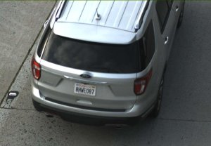 Police in Orange are seeking this rented Ford Explorer in connection with the shooting of a woman on March 14, 2019. (Credit: Orange Police Department)