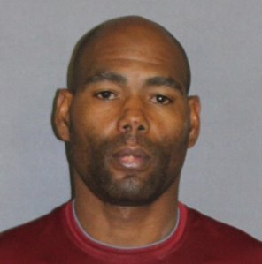 Jamon Rayon Buggs, 44, of Huntington Beach, pictured in a photo released by the Newport Beach Police Department following his arrest on April 25, 2019.