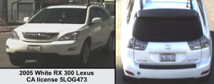 The victim's vehicle is shown in an LASD bulletin on April 9, 2019.