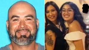 From left: Roman Cerratos, 39, is seen in a driver's license photo and Maricela Mercado, 40, and her 15-year-old daughter, Alora Benitez, are seen in an undated family photo released by the Los Angeles County Sheriff's Department on April 19, 2019.