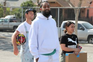 Nipsey Hussle attends Nipsey Hussle x PUMA Hoops Basketball Court Refurbishment Reveal Event on Oct. 22, 2018, in Los Angeles. (Credit: Jerritt Clark/Getty Images for PUMA)