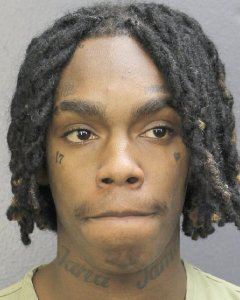 Rapper YNW Melly is seen in an undated booking photo. (Credit: Broward's Sheriff's Office via Getty Images)