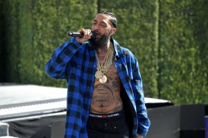 Nipsey Hussle performs onstage at Live! Red! Ready! Pre-Show, sponsored by Nissan, at the 2018 BET Awards at Microsoft Theater on June 24, 2018 in Los Angeles, California. (Credit: Neilson Barnard/Getty Images for BET)