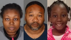 Taquesta Graham, left, Emiel Hunt, center, and Trinity loves Jones, right, are seen in photos released by the Los Angeles County Sheriff's Department.