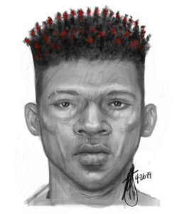 Police are seeking the man pictured in this sketch in connection with the attempted kidnapping of a girl in front of an elementary school in L.A.'s Mid-City area on April 25, 2019. (Credit: Los Angeles Police Department)