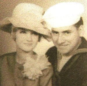 In this photo provided to KTLA, Mary Barrow Sommerlott is pictured next to U.S. naval journalist Raul Guerra, who was killed in the Vietnam War in 1967. The two were engaged at the time of his death.