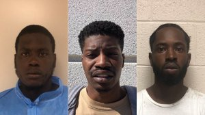 (Left to right) Travion Deshon Brown, 22, Terrell Lamont Brown, 21, and Eric Alphonso Mitchell, 21, pictured in photos provided by the Orange Police Department following their arrests on April 25, 2019.