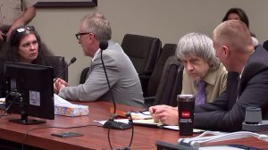 David Turpin and Louise Turpin are seen appearing in court for their sentencing on April 19, 2019. (Credit: Pool)