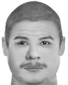 A composite image provided by the Corona Police Department on May 30, 2019, shows a man wanted in connection to the killing of Michael Williams Jr.