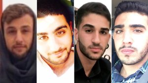 From left: Hussein Saab, Hussein Ayoub, Hussein Ghasham and Hussein Saleh are seen in undated photos provided by family members.