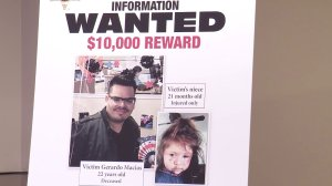 Images of Miguel Macias and his niece appear in a poster from the Los Angeles County Sheriff's Department on May 8, 2019.