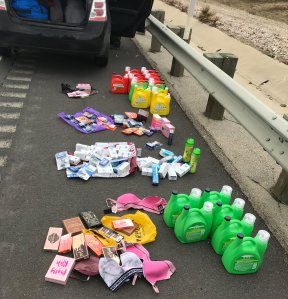 Deputies recovered nearly 100 items stolen from a Fillmore dollar store by two women who allegedly pepper sprayed an employee during a robbery on May 23, 2019. (Credit: Ventura County Sheriff's Office)