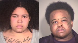 Kayla Raelynn Gularte, 21, of Santa Barbara and Kathryn Valencia Weaver, 22, of Bakersfield, pictured in photos released by the Ventura County Sheriff's Office following their arrests on May 23, 2019.