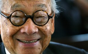 Architect I.M. Pei smiles for a photo after being honored with an Ellis Island Family Heritage Award at the Ellis Island Museum in New York City on April 21, 2004. (Credit: Paul Hawthorne / Getty Images)