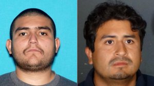 From left to right: Alejandro Nuño Coronado, 25, and Christian Mario Camarena Ramirez, 24, are seen in photos released by the Los Angeles Police Department on May 9, 2019.