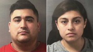 Luis Posso, left, and Dayan Median Flores, right, are seen in booking photos released by the Monroe County Sheriff's Department.