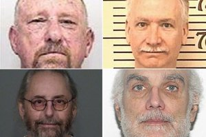 From top left: Alan Dunlap, Floyd Slusher, Mark Bumgarner and Stephen Field appear in undated photos provided by various police departments. (Credit: Los Angeles Times)