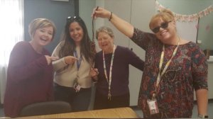 Four Summerwind Elementary School teachers are seen holding a noose in a photo that circulated on social media.