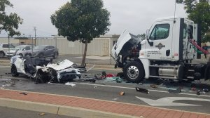 Santa Ana police released this photo of the crash on May 13, 2019.