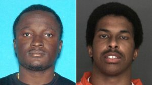 Kwesi Akuffo, 26, of San Bernardino (left), was shot and wounded during a robbery in which suspect Kiven Jabbar Arnold, 26, of Pomona was shot and killed on May 25, 2019, police said. (Credit: San Bernardino Police Department)