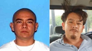 Leopoldo Martinez Garcia is seen in a 2002 photo (left) and a 2019 photo (right) released by the Riverside Police Department on May 23, 2019.