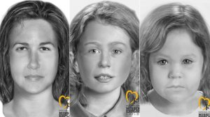 From left: Marlyse Elizabeth Honeychurch, Marie Elizabeth Vaughn and Sarah Lynn McWaters are seen in composite sketches released by the National Center for Missing and Exploited Children.