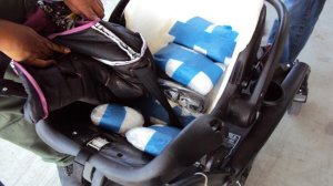 car seat and stroller in Murrieta on on June 12, 2019. (Credit: U.S. Customs and Border Protection)