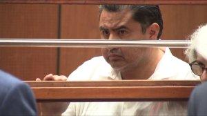 Naasón Joaquín García appears in court in Los Angeles on June 5, 2019. (Credit: KTLA)
