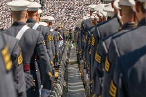 West Point graduates attend the U.S. Military Academy Class of 2019 graduation ceremony at Michie Stadium on May 25, 2019, in West Point, New York.(Credit: David Dee Delgado/Getty Images)